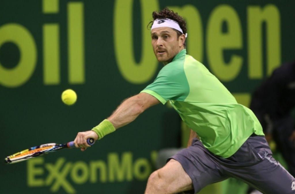 Michael Berrer schlägt Rafael Nadal. Foto: AFP