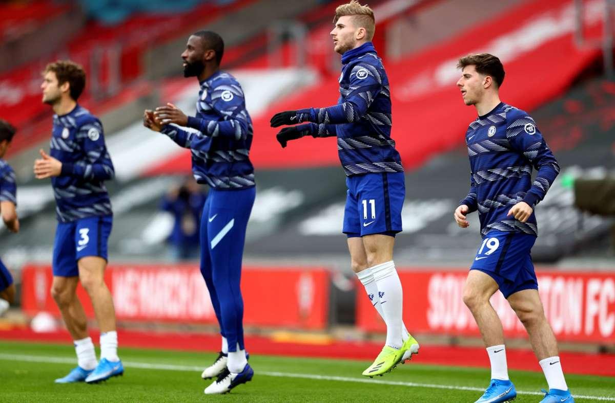 Antonio Rüdiger und Timo Werner sind beim FC Chelsea unter Vertrag. Foto: imago images/Michael Steele