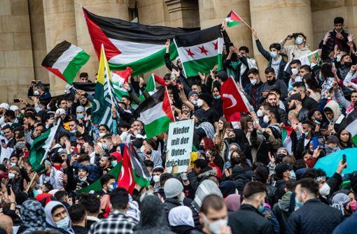 Polizei zählte rund 10.000 Menschen bei Nahost-Protesten