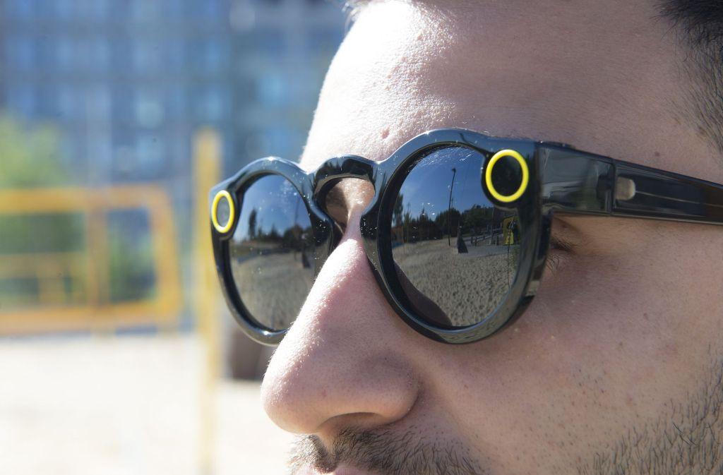 Die Snapchat-Kamera-Brille gibt es nun auch in Deutschland zu kaufen. Foto: dpa