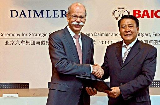 Daimler will chinesischen Partner als Aktionär