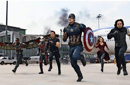 Captain America und Iron Man prallen aufeinander