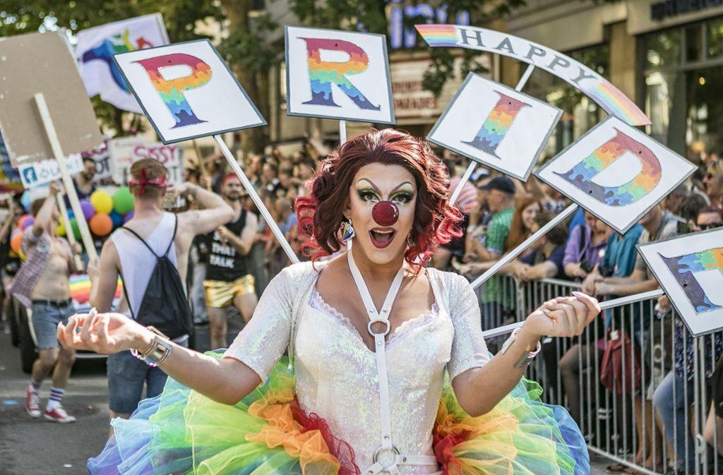 Am Samstag findet in Stuttgart die CSD-Parade statt. Foto: 7aktuell.de/Andreas Friedrichs