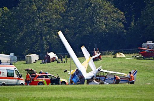 Flugzeuge kollidieren auf Hahnweide