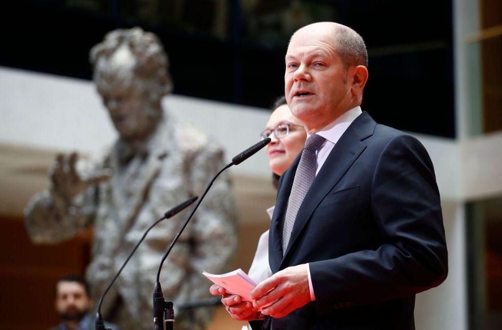 Olaf Scholz wird Vizekanzler und Finanzminister. Foto: AFP