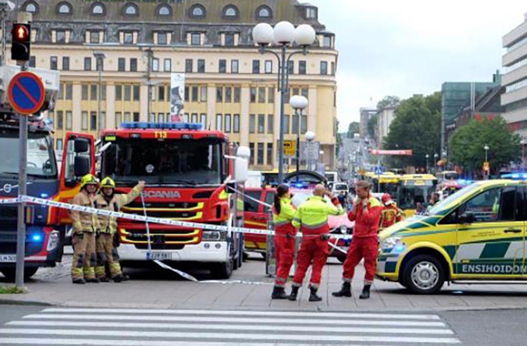 Mehrere Menschen sind in Turku niedergestochen worden. Foto: AFP