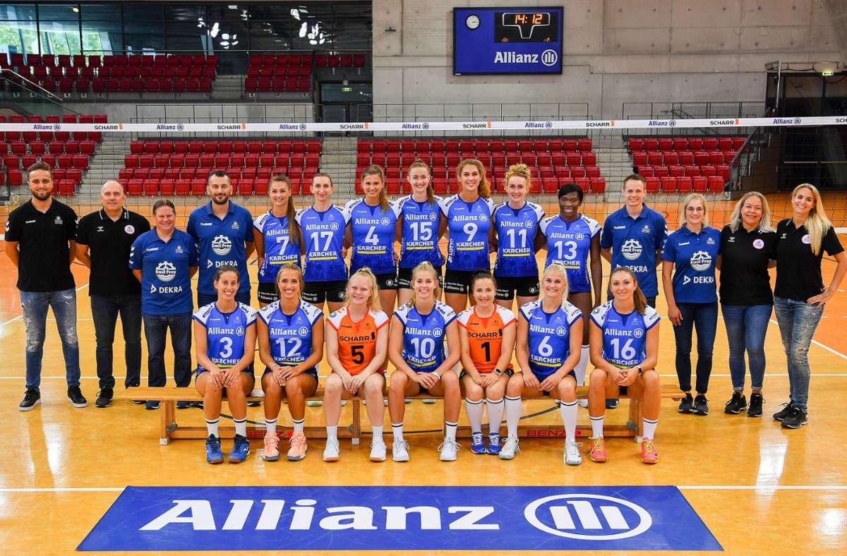 Der Bundesligakader von Allianz MTV Stuttgart für die kommende Saison. Foto: Tom Bloch
