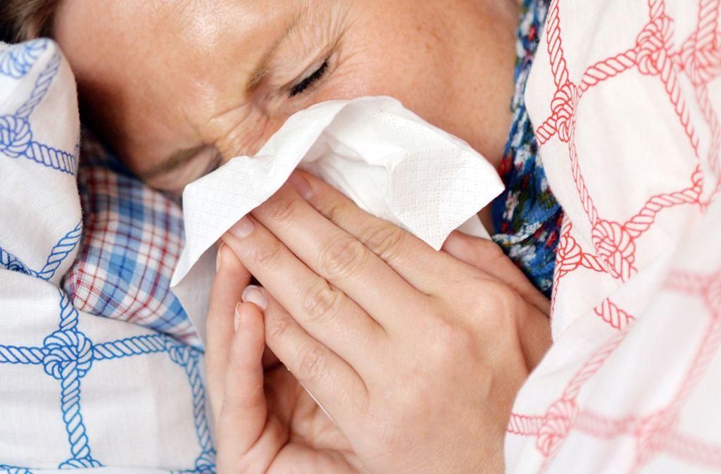 Tausende Deutsche haben sich während der Grippewelle infiziert. (Symbolbild) Foto: dpa/Maurizio Gambarini