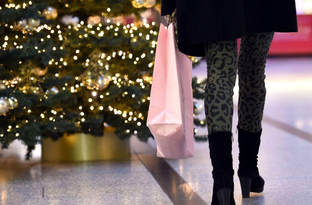 Das Weihnachtsgeschäft kam  diese Woche nochmals in Schwung. Foto: dpa