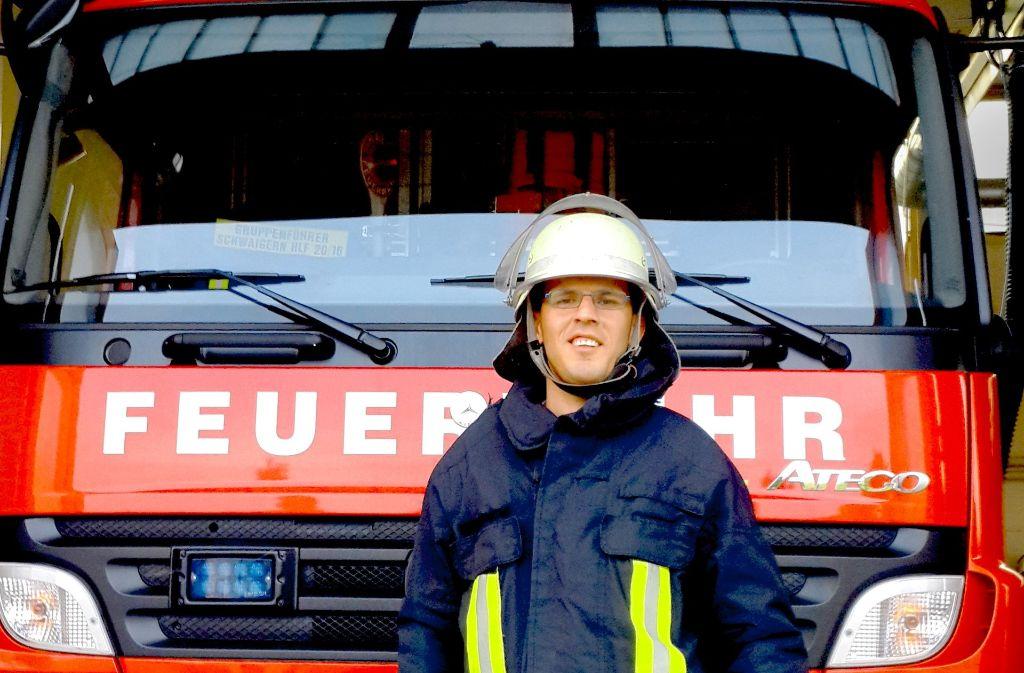 Haider Hlail engagiert sich bei der freiwilligen Feuerwehr in Schwaigern. Foto: Haug