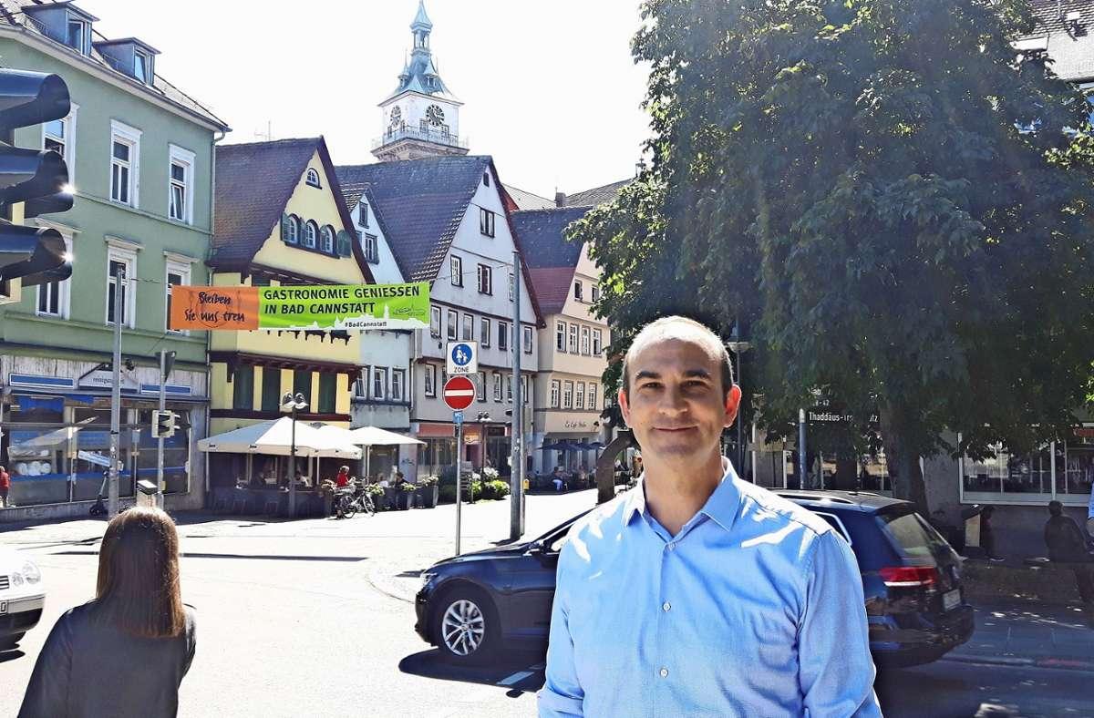 Mittendrin im Stadtgeschehen ist Pfarrer Florian Link am liebsten. Foto: Eva Funke