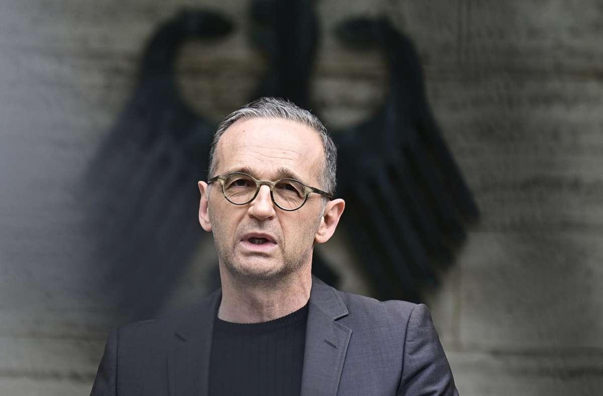 Deutschlands Außenminister Heiko Maas (SPD) (Archivbild) Foto: dpa/Tobias Schwarz