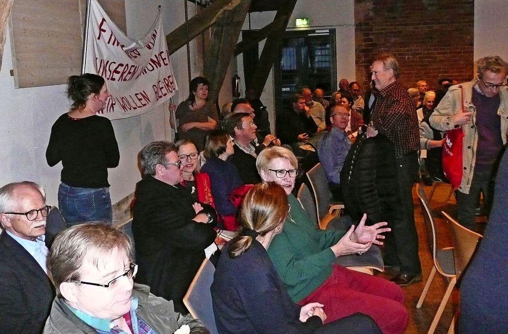 Der Ausspracheabend zum Thema Allianz-Neubau ist gut besucht gewesen. Foto: Christoph Kutzer