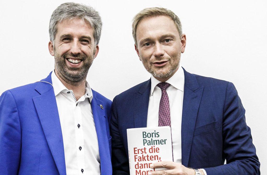 Sind sich in so manchem einig: Boris Palmer und Christian Lindner. Foto: dpa/Carsten Koall