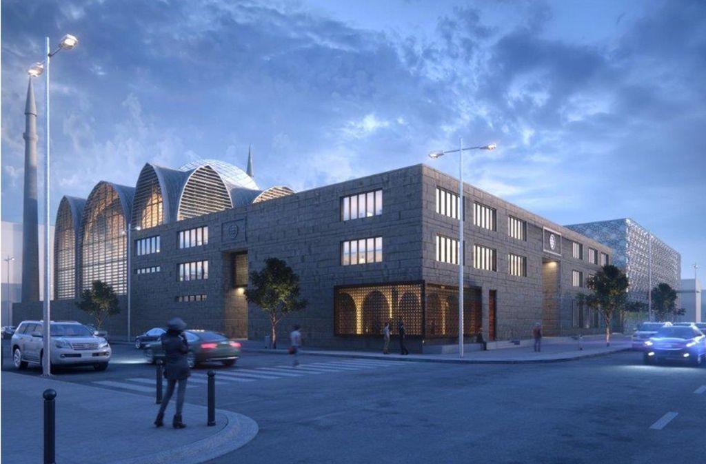 Diesen Neubau hat sich die Ditib-Gemeinde in Feuerbach vorgenommen – die AfD-Jugend macht gegen die Moscheepläne mobil. Foto: SL Rasch