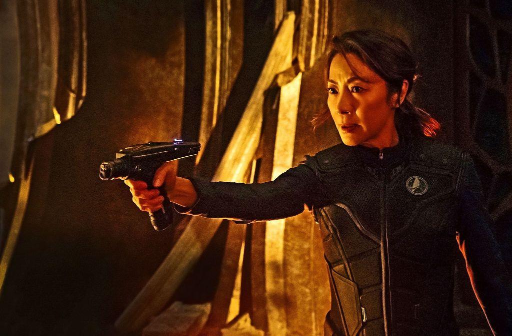 Der Captain ist zunächst  eine Frau: Michelle Yeoh spielt die Kommandantin des Raumschiffs Shenzou Foto: CBS ALL ACCESS