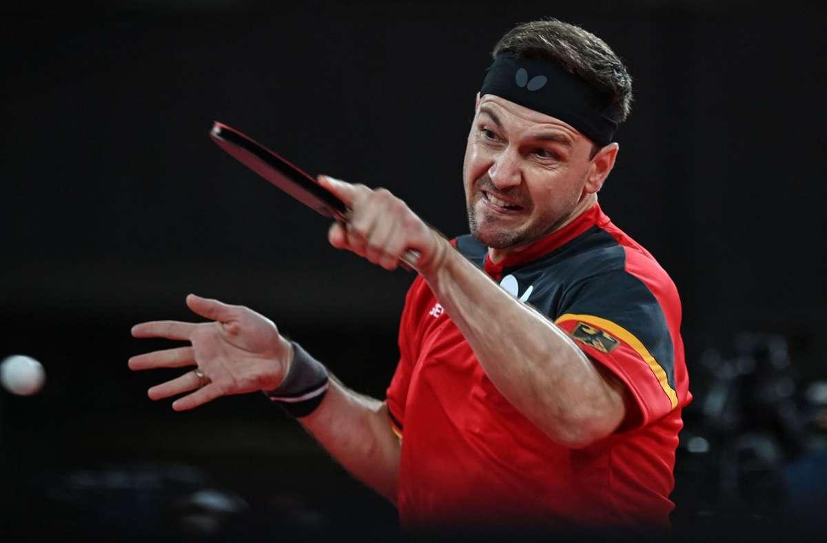 Timo Boll ist im Achtelfinale gescheitert. Foto: AFP/JUNG YEON-JE