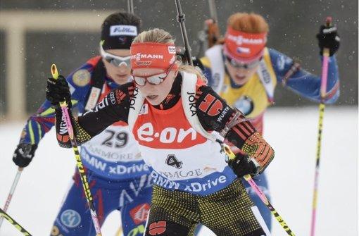 Deutsche Biathleten gewinnen die Mixed-Staffel