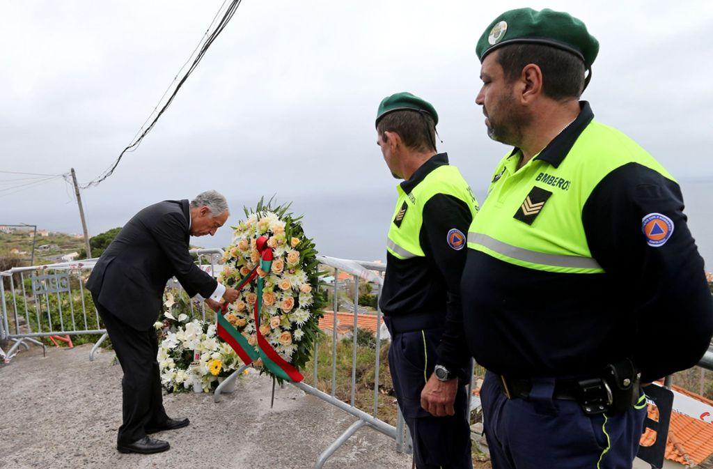 Der portugiesische Präsident Marcelo de Rebelo de Sousa zeigte auf Madeira seine Anteilnahme. Foto: AP