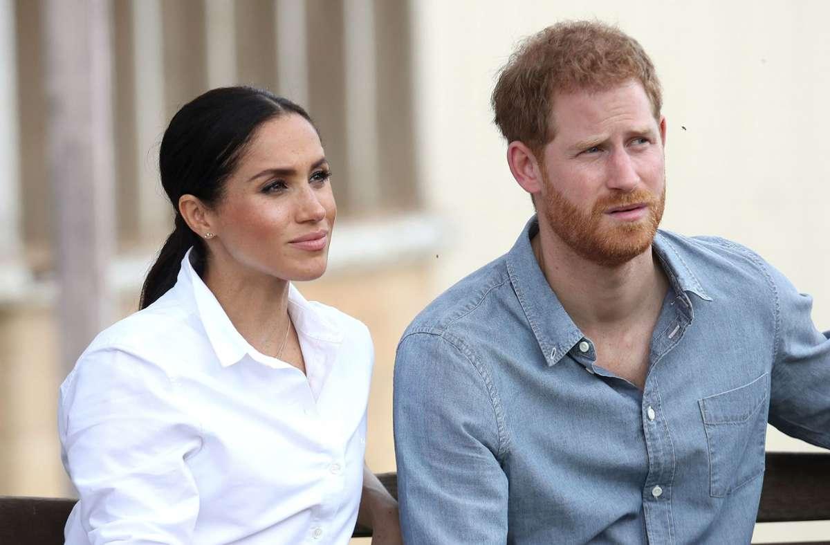 """Harry und die frühere US-Schauspielerin Meghan (""""Suits"""") hatten 2018 auf Schloss Windsor bei London geheiratet. Foto: dpa/Chris Jackson"""