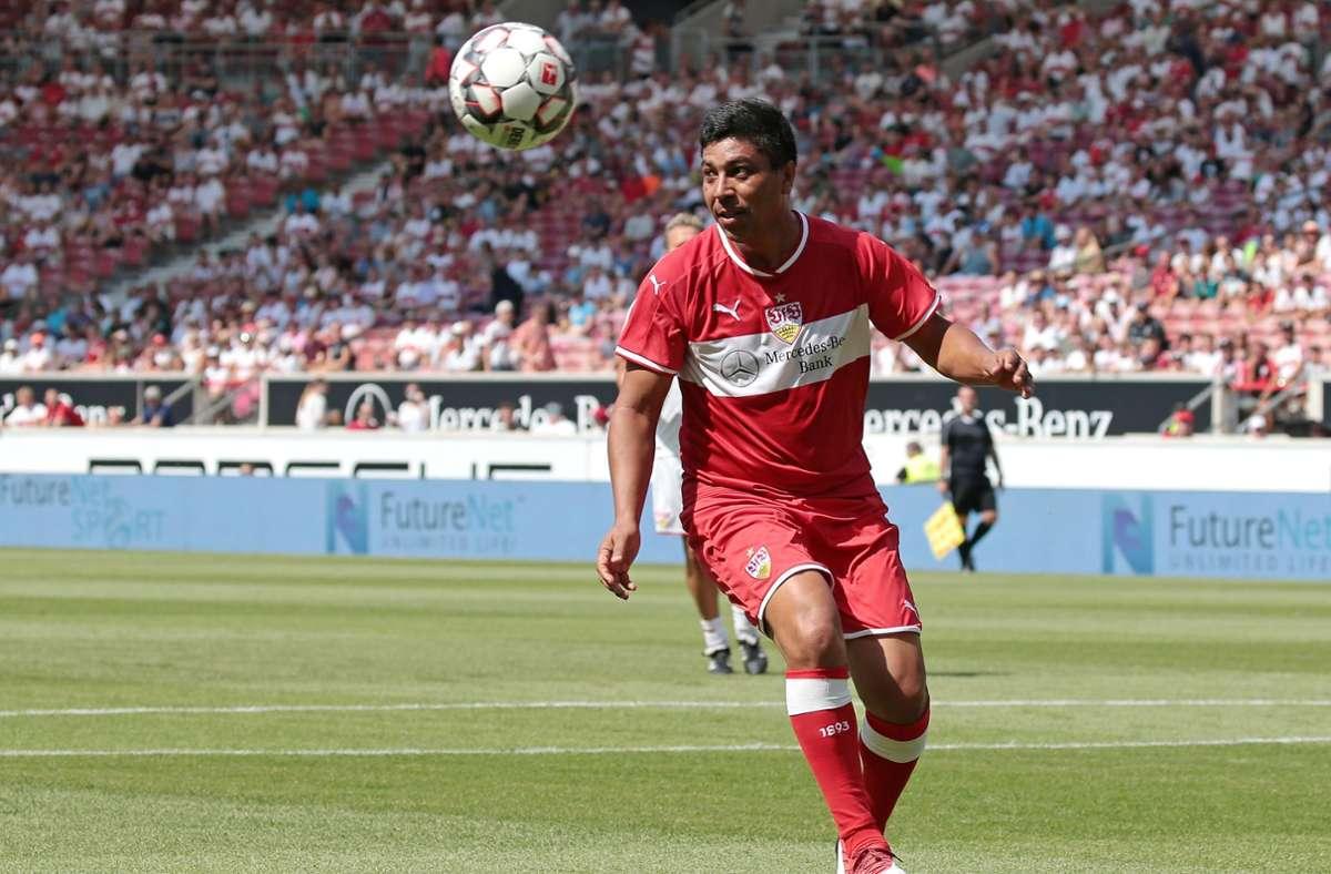 Giovane Elber beim Spiel der VfB-Allstars im Jahr 2018. Foto: Pressefoto Baumann/Alexander Keppler