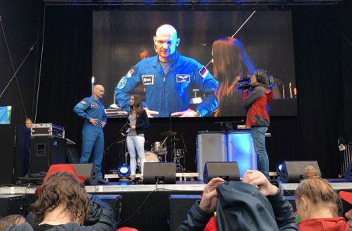 Wasserparty für den Astronauten