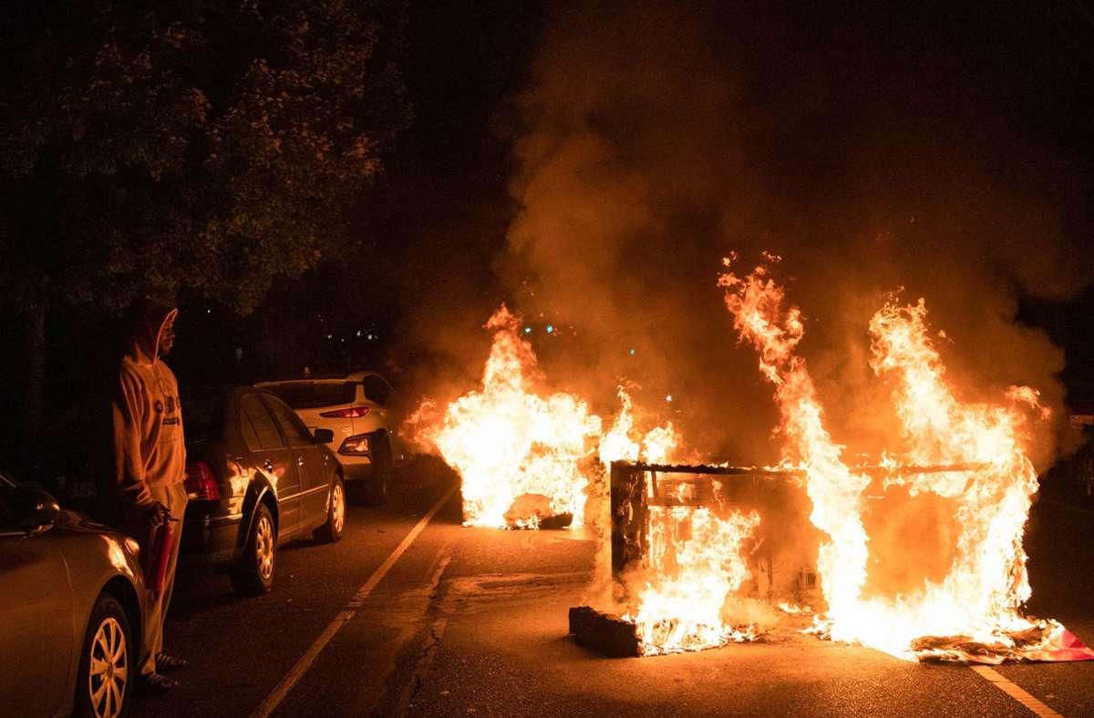 Erneut kam es in Philadelphia zu heftigen Ausschreitungen. Foto: AFP/GABRIELLA AUDI