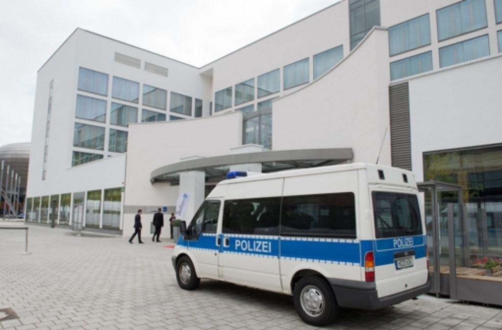 Gut bewacht von der Polizei trafen sich die Innenminister zu ihrer Konferenz in Hannover. Foto: dpa