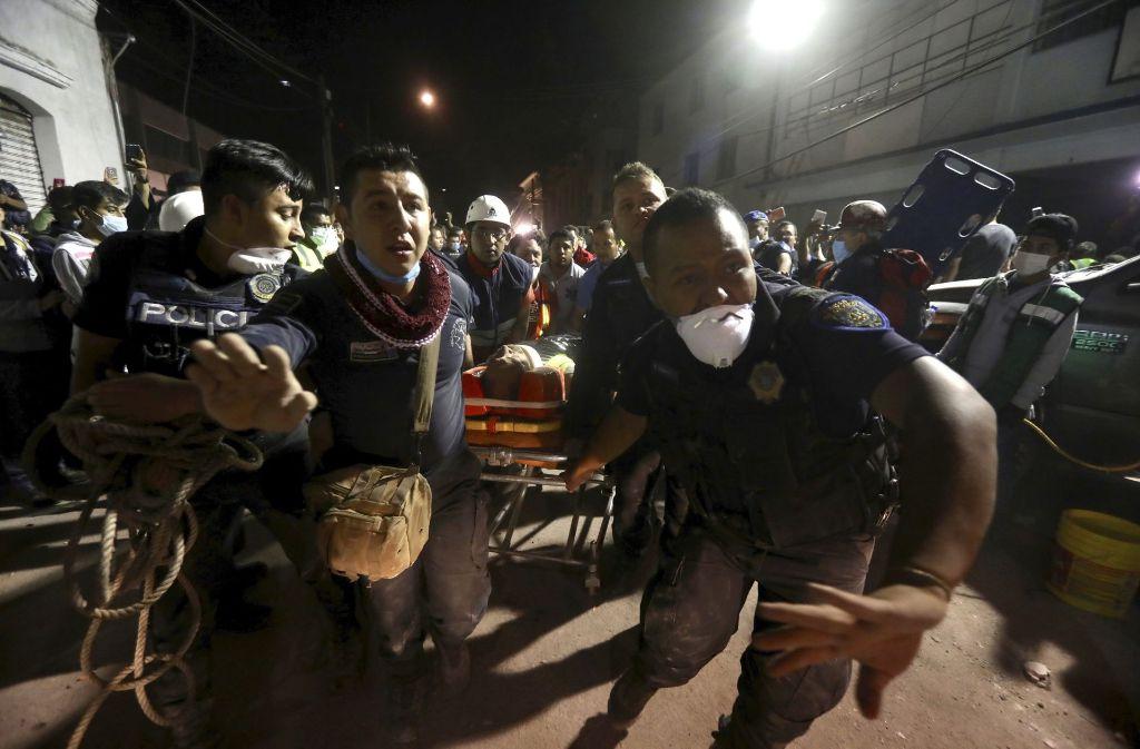 Das Erdbeben in Mexiko hat viele Opfer gefordert. Foto: AP