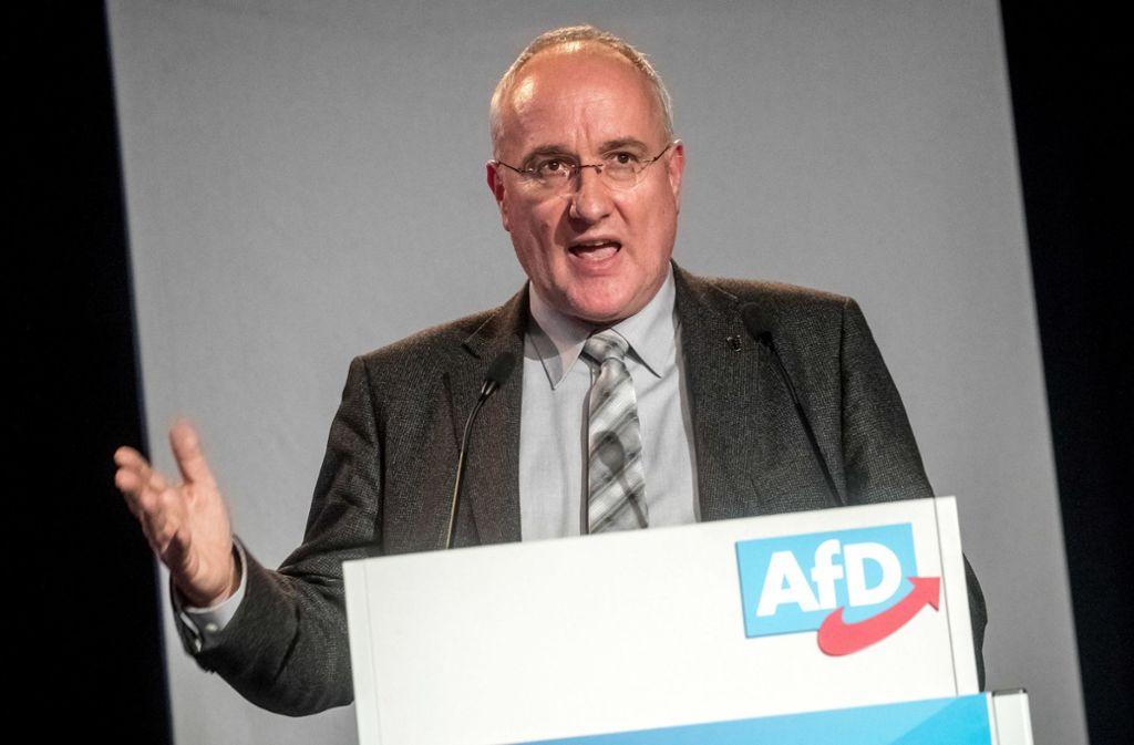 """Der AfD-Landtagsabgeordnete Heiner Merz ist """"fassungslos"""" über die Verwendung der von ihm verschickten Adressliste. Foto: dpa"""