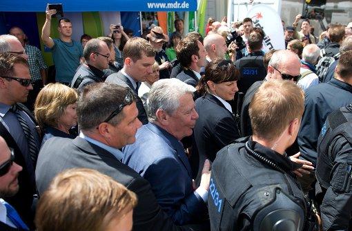 Bundespräsident in Sebnitz massiv beleidigt