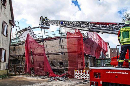 Sturmtief Eberhard: Feuerwehr ist im Dauereinsatz