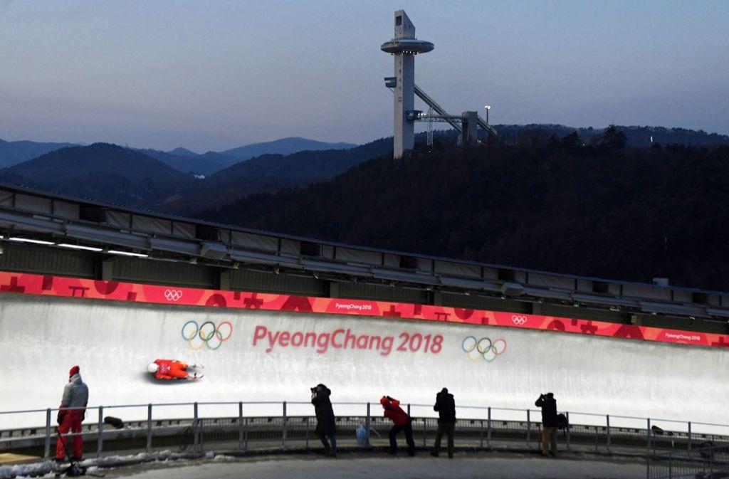 Der Eiskanal in Pyeongchang hat es in sich und wird für die Athleten zur Herausforderung. Foto: dpa