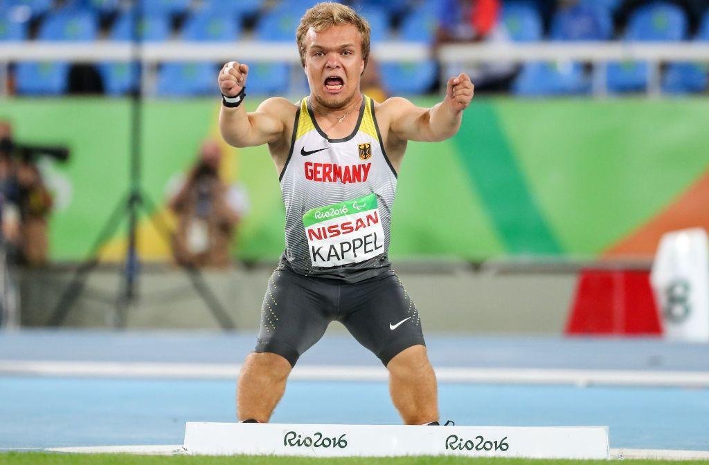 Der Wettkampf seines Sportler-Lebens: Kugelstoßer Niko Kappel vom VfL Sindelfingen gewinnt bei den Paralympics in Rio de Janeiro die Goldmedaille. Foto: dpa
