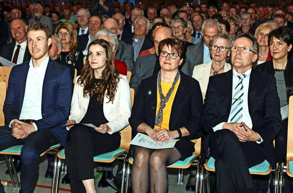 Bei seinen Kindern Björn und Larissa   sowie seiner Ehefrau Daniela   hat Dieter Hofmann immer  viel Rückhalt gefundnen. Foto: factum/Bach