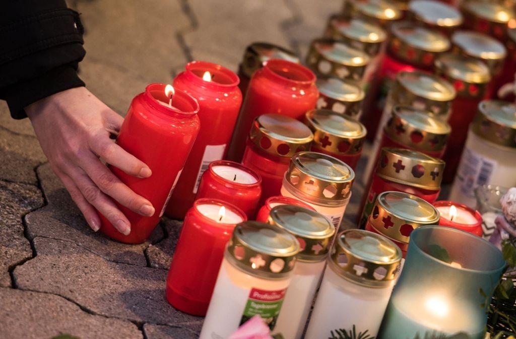 Trauer um ein getötetes Mädchen in Kandel. Foto: dpa