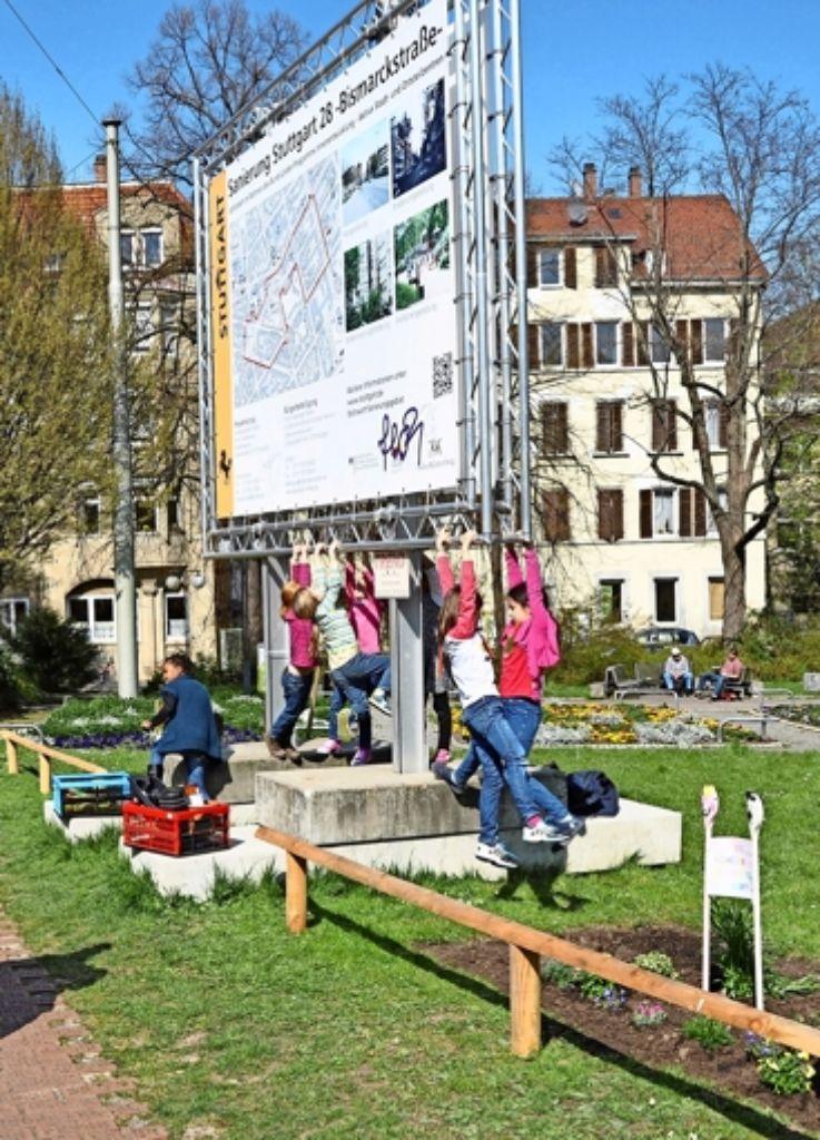 Mit Urban Gardening weisen Kinder zugleich auf die Bürgerbeteiligung hin. Foto: privat