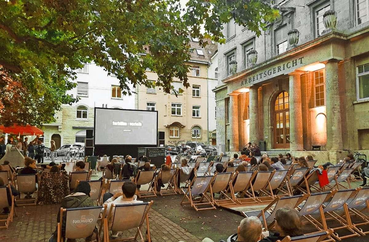 Bereits im Sommer 2020 gab es am Lerchenplätze erste Kinonächte. Foto: Katrin Scherer