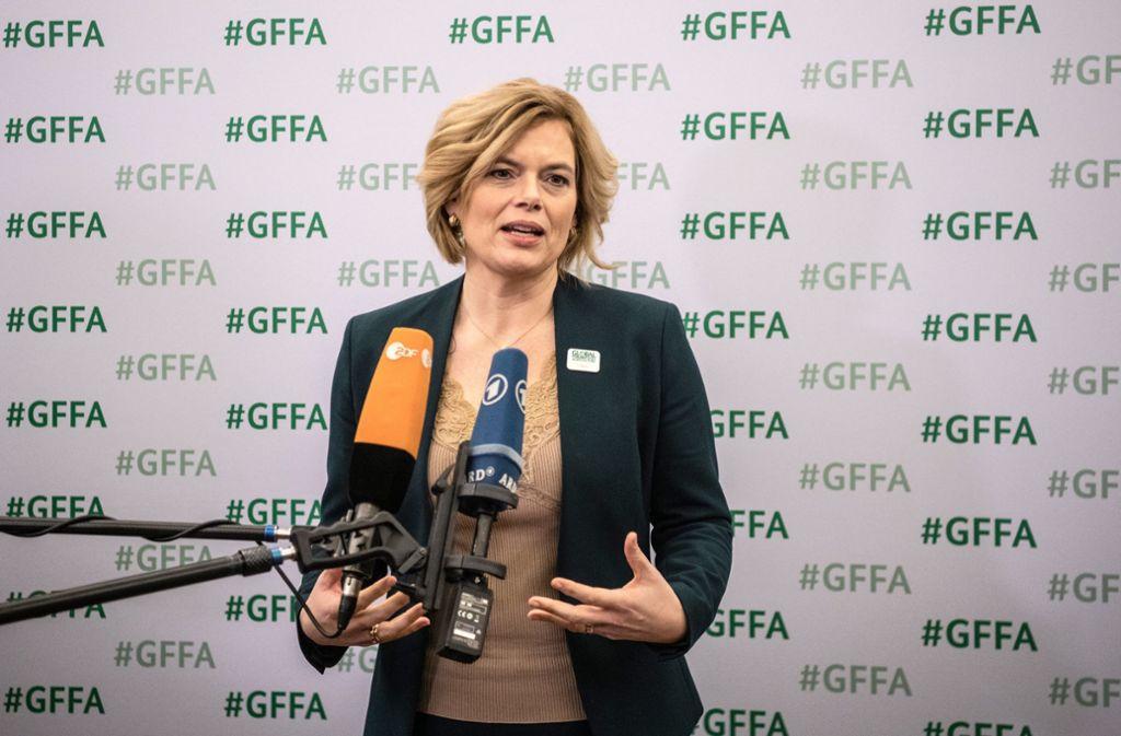 Julia Klöckner hat sich die Reaktionen auf ihre neue Kampagne wohl etwas anders vorgestellt. Foto: dpa/Paul Zinken
