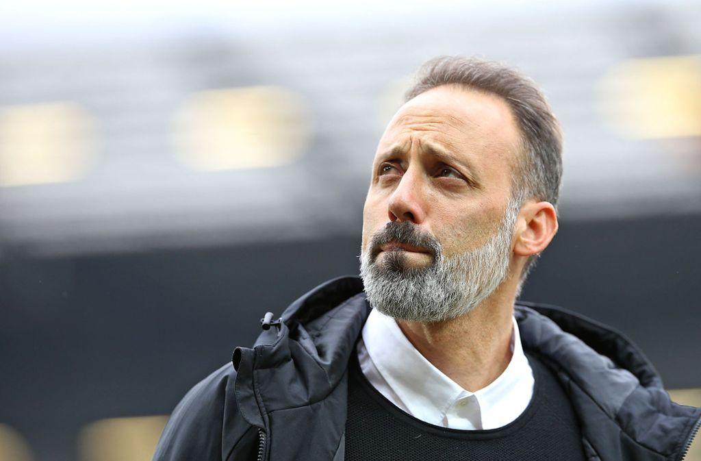 Die Verletzten bereiten VfB-Coach Pellegrino Matarazzo ein paar Sorgenfalten. In unserer Bildergalerie sehen Sie, wen er in Leverkusen ins Rennen schicken könnte. Foto: Baumann