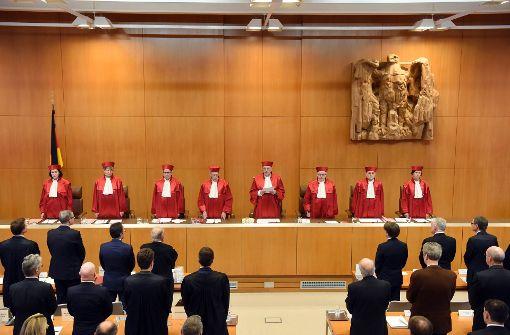 Das Bundesverfassungsgericht bei der Urteilsverkündung in Karlsruhe Foto: dpa