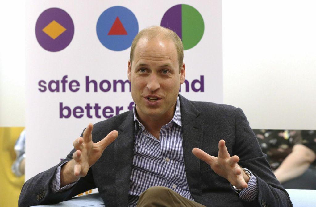 """Prinz William besuchte am Mittwoch den """"Albert Kennedy Trust"""", der sich für junge Menschen einsetzt, die wegen ihrer sexuellen Orientierung aus ihrer Familie verstoßen wurden. Foto: dpa"""