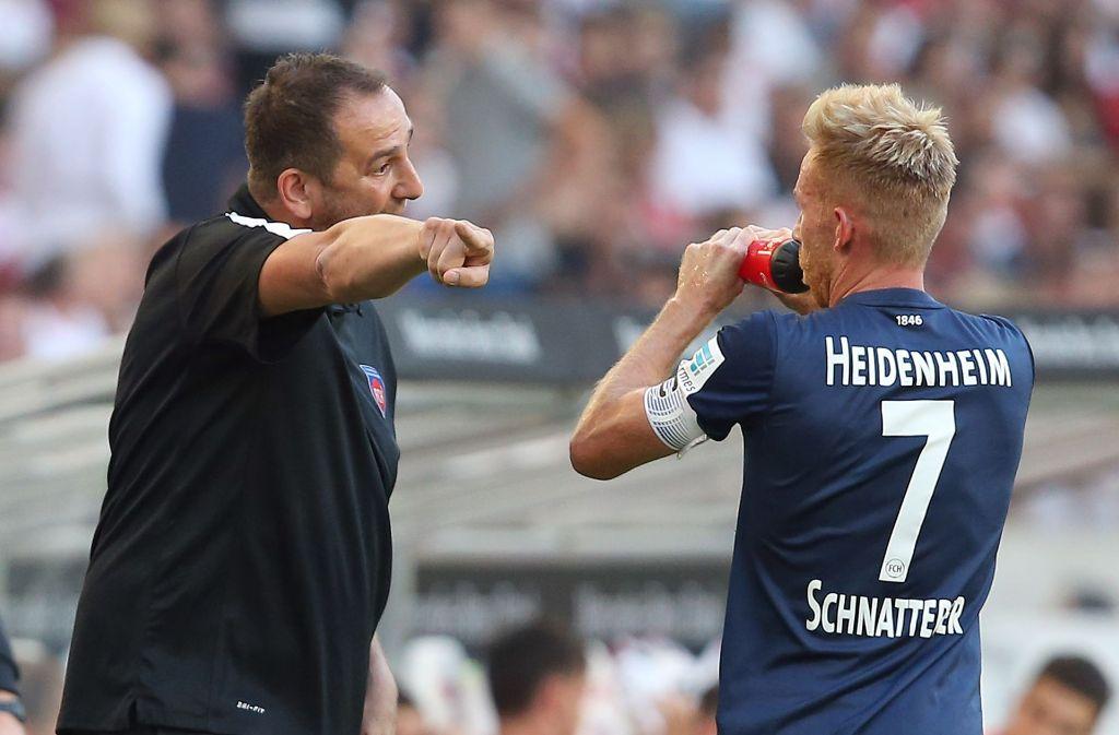 Erfolgsduo: Trainer Schmidt und Spieler Schnatterer Foto: Baumann
