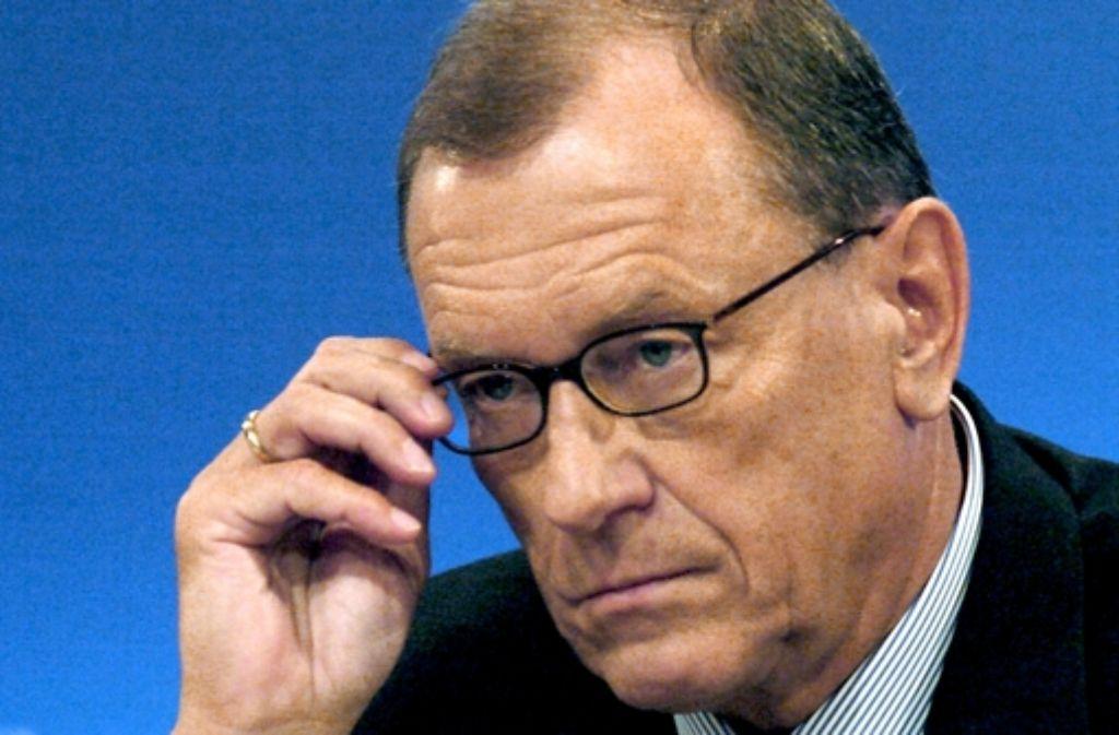 Sein Rücktritt ließ 2005 den Aktienkurs nach oben schnellen: Jürgen Schrempp Foto: dpa