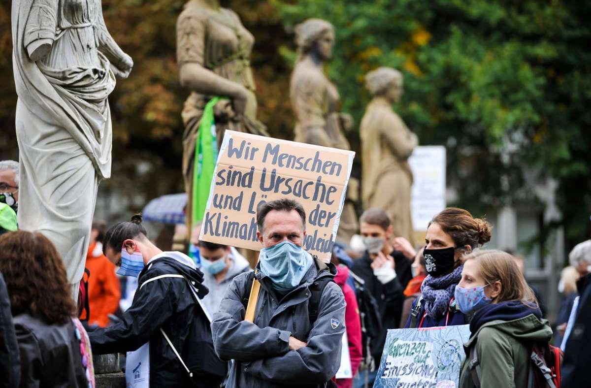 Im Stadtgarten fand die Abschlusskundgebung der Bewegung statt. Foto: Lichtgut/Max Kovalenko