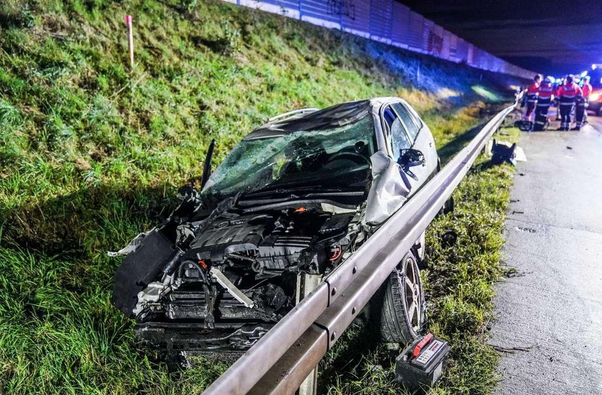 Auf der A8 ist es am Samstag zu einem Unfall gekommen. Foto: SDMG/SDMG / Kohls