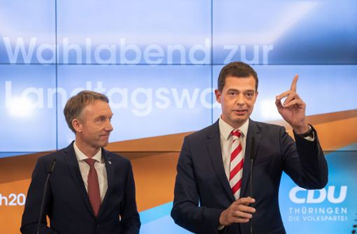 Thüringer CDU erteilt den Linken und der AfD eine Absage