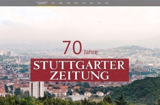 """Preis für die Multimediareportage """"70 Jahre StZ"""""""
