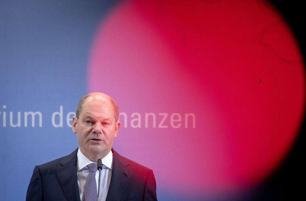 Olaf Scholz kann mit dem Kompromiss gut leben. Foto: dpa