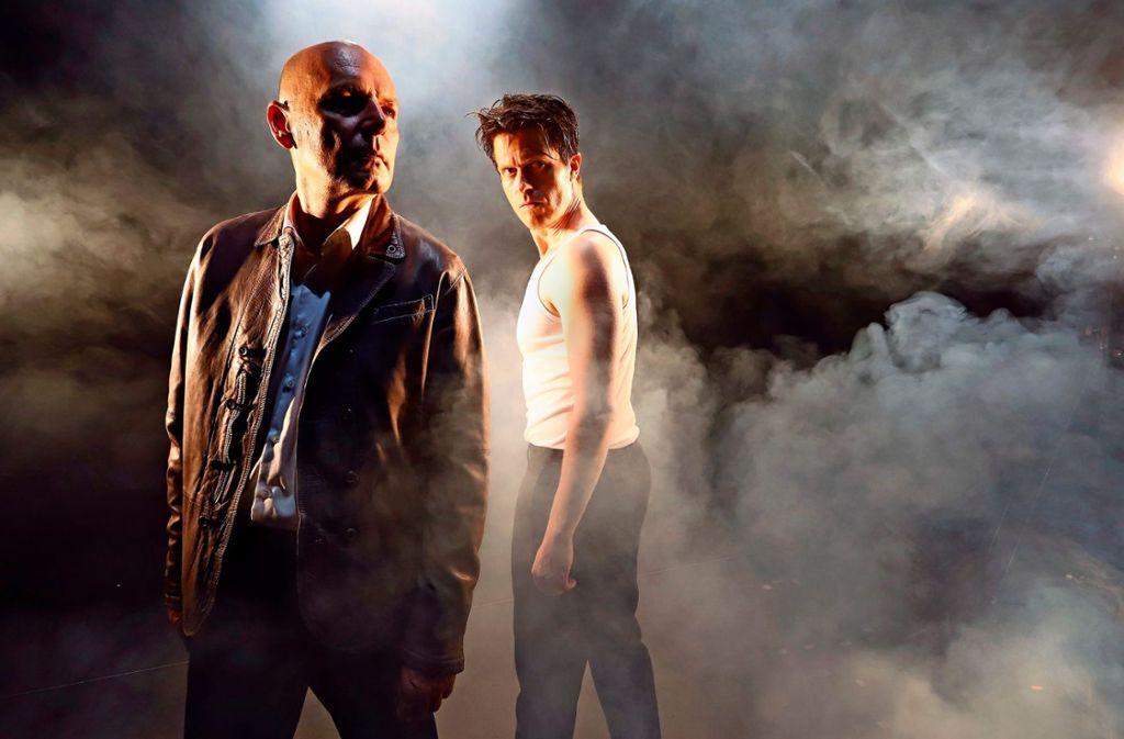 Udo Rau (links) spielt am Forum Theater in Shakespeares Julius Cäsar den Brutus, Michael Ransburg den Marc Anton. Premiere ist am 3. Oktober.  Foto: Sabine Haymann